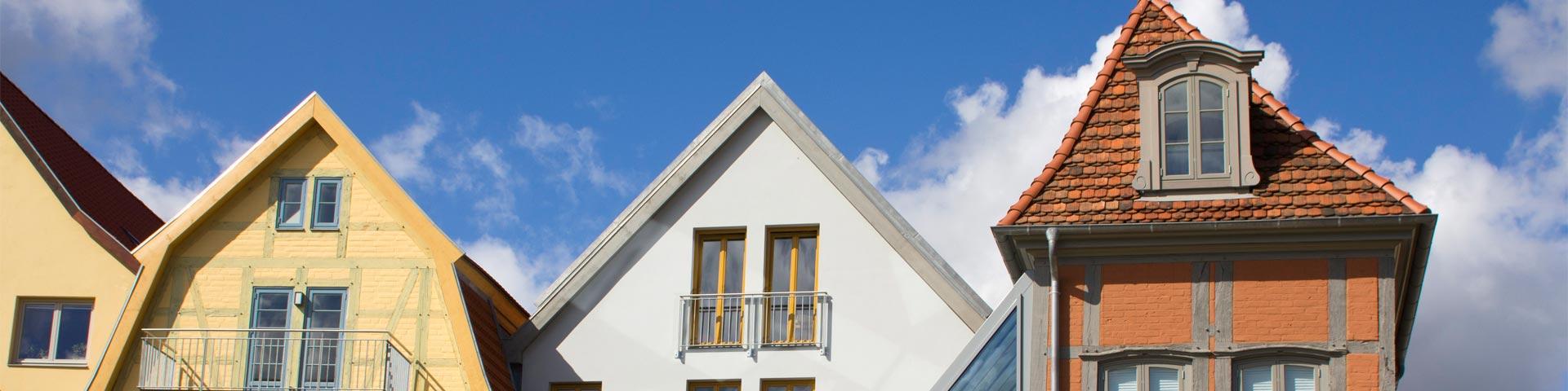 Bürgerhäusern Am Berge Aus Verschiedenen Stilepochen In Güstrow